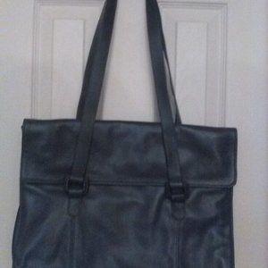Vintage Tignanello Dark Blue Briefcase Bag